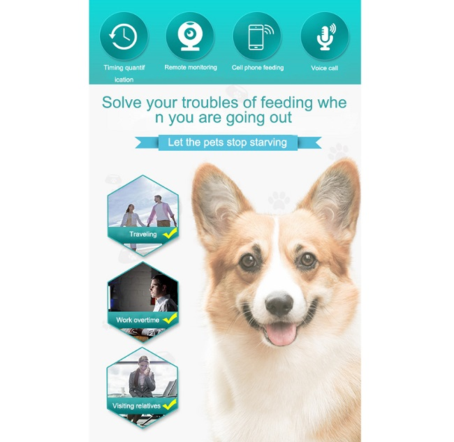 remote smart pet food feeder